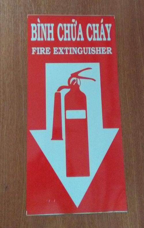 nơi để bình chữa cháy